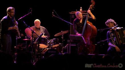 """Festival JAZZ360 2013, Daniel Humair Quartet """"Sweet & Sour"""", salle culturelle de Cénac. Photographie : Christian Coulais"""