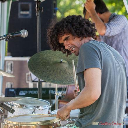 Gaétan Diaz, batteur, compositeur, leader du groupe Gaétan Diaz Quintet, Festival JAZZ360, Cénac