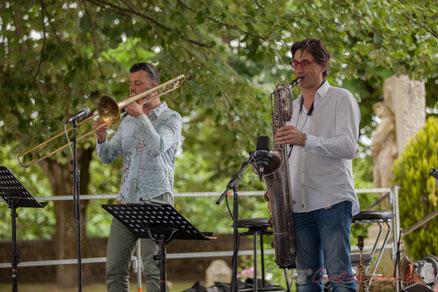 Eric Séva Quartet, Festival JAZZ360 2016, Camblanes-et-Meynac. Photographie : Christian Coulais