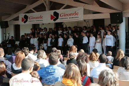 Festival JAZZ360 2011, école de Cénac. JazzEcole avec les classes de Quinsac, Sadirac, Lorient, Cénac. Photographie : Christian Coulais