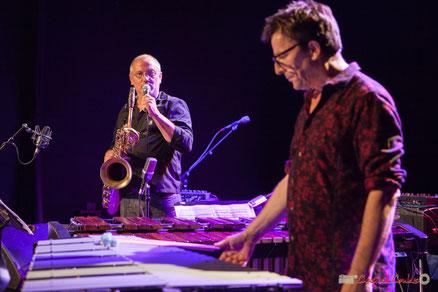 François Corneloup (saxophones) & Franck Tortiller (vibraphone, marimba) , Festival JAZZ360, Cénac