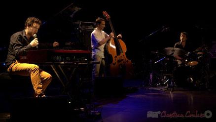 Festival JAZZ360 2015, salle culturelle de Cénac. Laurent Coulondre Trio. Photographie : Christian Coulais