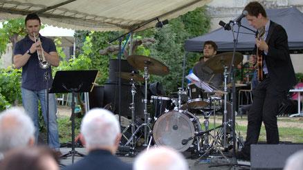 Festival JAZZ360 2015, Isotope Trio, château Lestange, Quinsac. Photographie : Christian Coulais