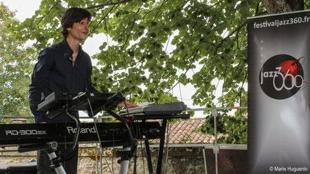 Phil Gueguen, Festival JAZZ360 2016, Camblanes-et-Meynac, photographie Marie Huguenin