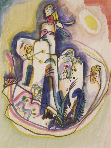 Sin título,1918-20.Acuarela y tinta china sobre papel.26x20cm.Legado Nina Kandinsky.