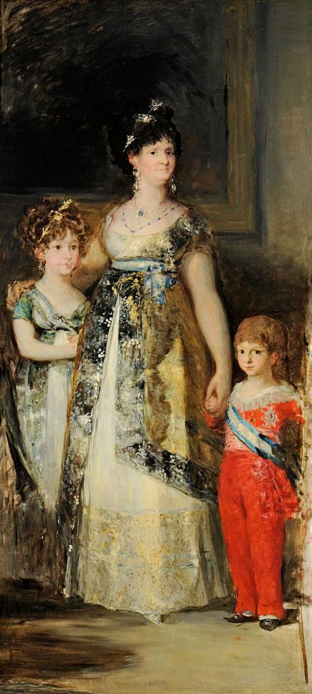 Copia de Fortuny a Goya.La Familia de Carlos IV,1867.Óleo sobre lienzo 220x100cm. Museo Fortuny.