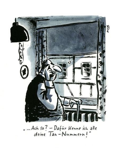 Cartoon von Mock zum Thema Tannummern