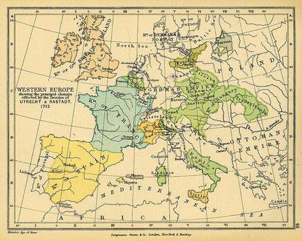 L'europe après la paix de 1714