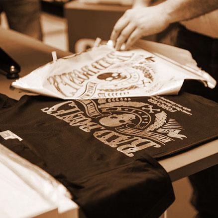 Verfahren zum Bedrucken eines T-Shirt