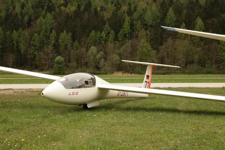 LS 2, Erstflug 10.03.1973. Überholt und neu lackiert vom LTB Sebald in 2017 . Einzelstück unter VVZ.