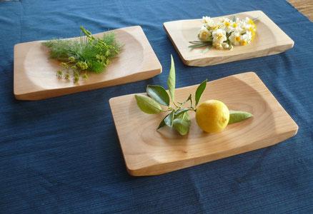木のパン皿3種