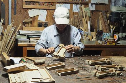 木の筆箱製作中1~組み立て~