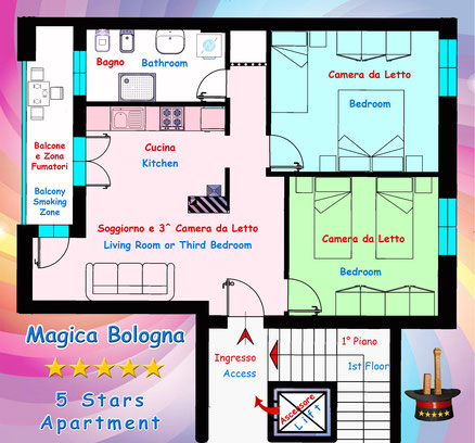 Pianta Appartamento Magica Bologna