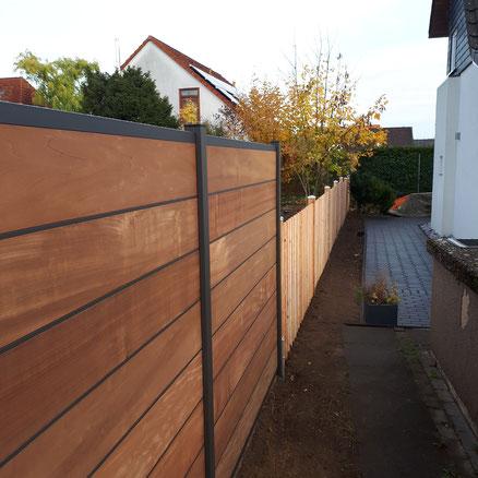Super Sichtschutz aus Holz oder WPC in Hannover - Gartenpflege AX39
