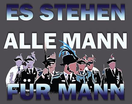 Grafik zum Kompanielied Es stehen alle Mann für Mann