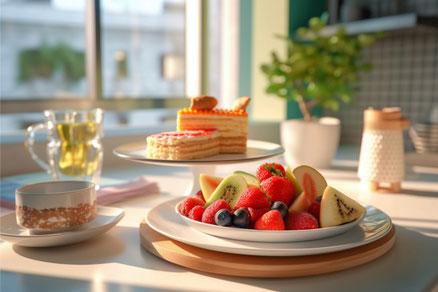 ミニサイズの黒板に張り付けられた幼稚園、小学校、中学校の制服のペーパークラフト。