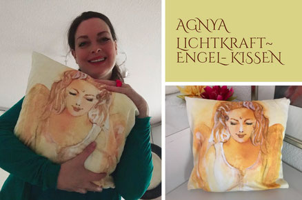 AGNYA HEALING ART Spirituelle Kunst Engel-Kissen