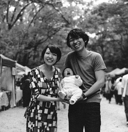 H様ご家族(2013年10月 白黒フィルム撮影)