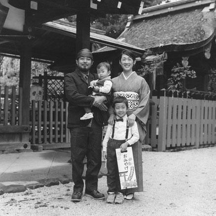 T様ご家族(2015年11月 白黒フィルム撮影)