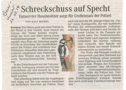 Weser Kurier 16.10.2014