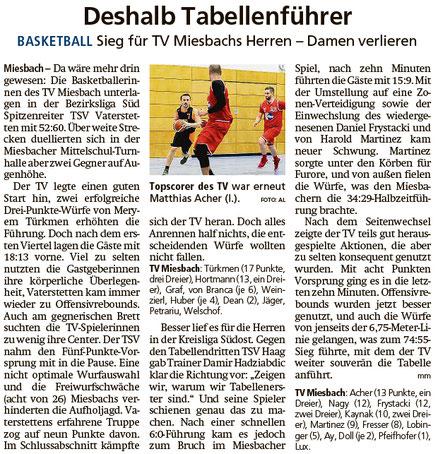 Bericht im Miesbacher Merkur am 3.12.2019 - Zum Vergrößern klicken