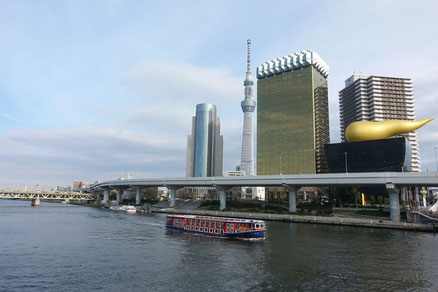 終点浅草まで、約50分ほどの船旅を楽しめるよ♪
