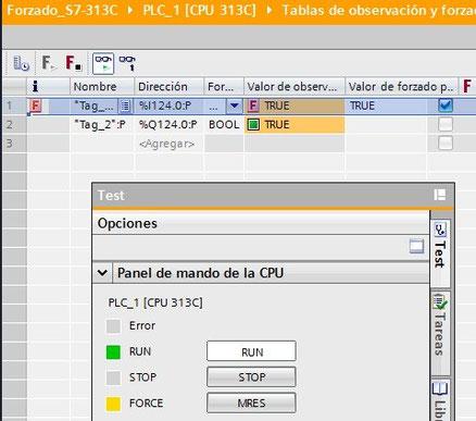 forzado permanente cpu simatic s7-3xx