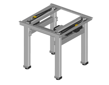 höhenverstellbare Tischunterkonstruktion