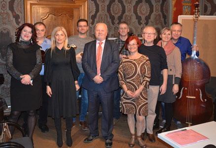 Vlado und Rajka Poljak Franjevic, Generalkonsul der Republik Kroatien in Zürich mit Gattin... nach der Lesung in St.Gallen