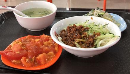 中国大連 遼寧師範大学 学生食堂 食事例