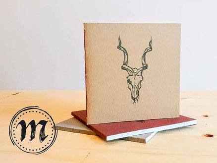 Marginali, Etsy Québec, cahier antilope, reliure