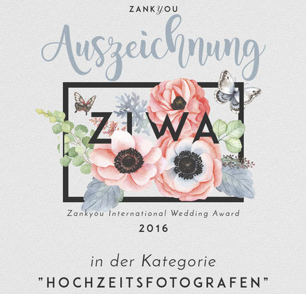 Hochzeitsfotograf Tom River Gewinner des Zankyou International Wedding Award