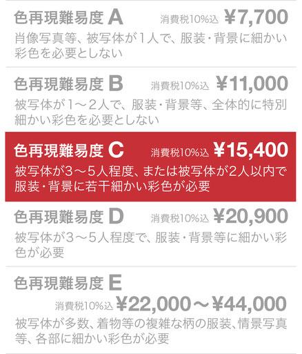 色再現難易度C ¥10,000(税抜)
