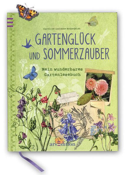 """Buchcover """"Gartenglück und Sommerzauber"""" ars Edition Caroline und Anne Ronnefeldt"""