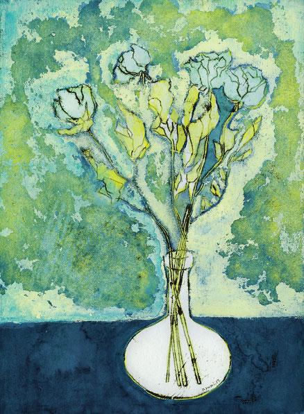Blue dry flower