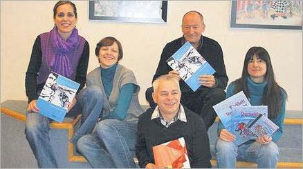 Isabelle Wick, Petra Gut, Peter Thomas, Jacqueline Rubli (von links) und Freddy Noser (vorne). Bild: as.