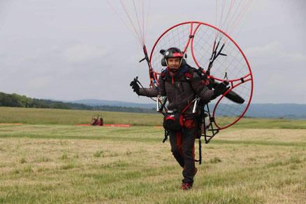 Motorschirm DULV Fluglehrer Björn Lürßen