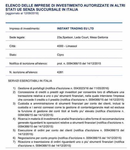 instant trading eu consob instaforex.eu italia