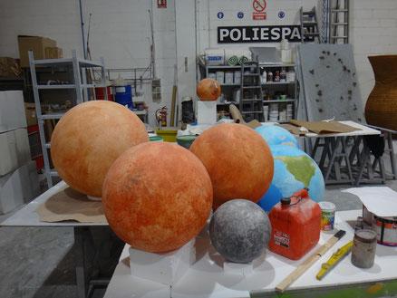 Esferas de Planetas del sistema Solar