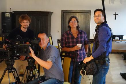 Regissseurin Christa Spannbauer mit Kameramann Christian Marohl und Tonmeister Alexander Heinze