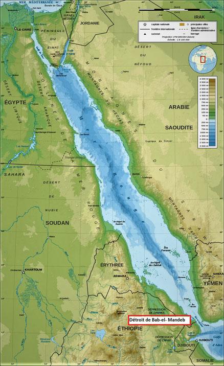 La mer rouge est aussi appelée mer d'Égypte, mer des roseaux ou des joncs dans la Bible. C'est l'une des mers les plus chaudes du monde (entre 21 et 25°C). Le peuple d'Israël, sous la direction de Moïse, a traversé miraculeusement la mer rouge.