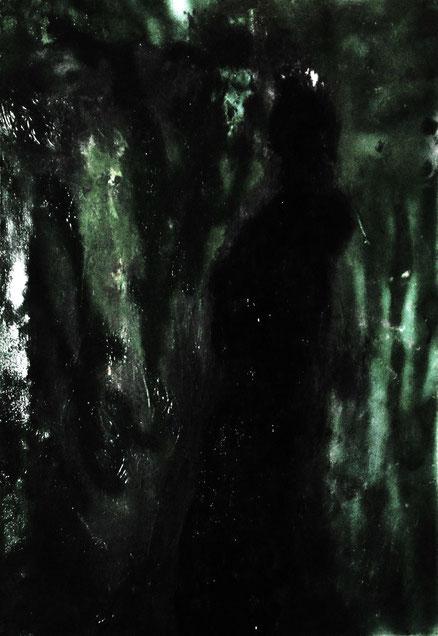 Gartengott, Acryl auf Leinwand, 70x50, 2014