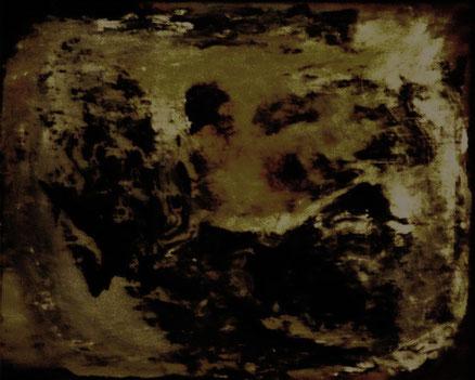 Klassischer Tod in der Wanne, Acryl auf Hartfaser, 40x50, 2015