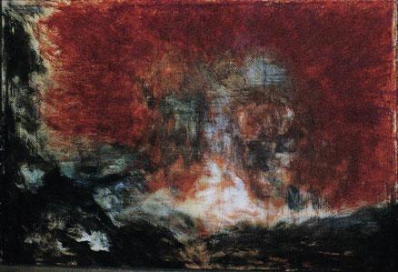 GAUguins Tod, Acryl auf Leinwand, 80x140, 2012