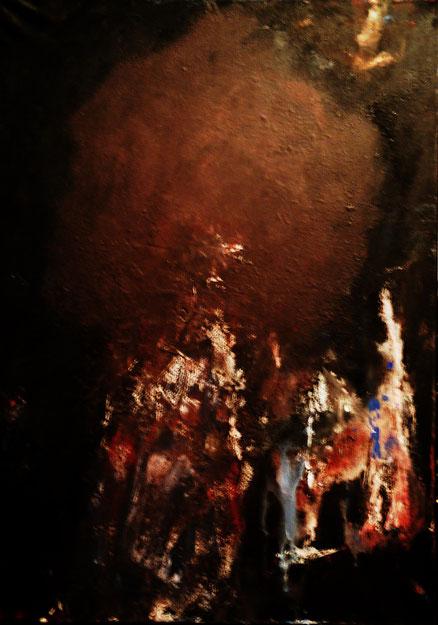 Engel der Entartung, Acryl auf Leinwand, 70x50, 2013