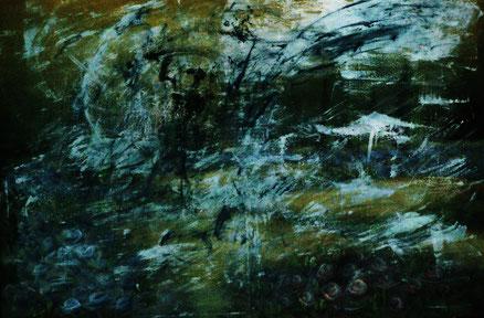 Kleist, Acryl auf bedruckter Leinwand, 70x80, 2012