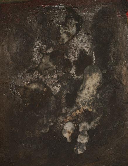 Maske, Acryl auf Papier, 45x34, 2017