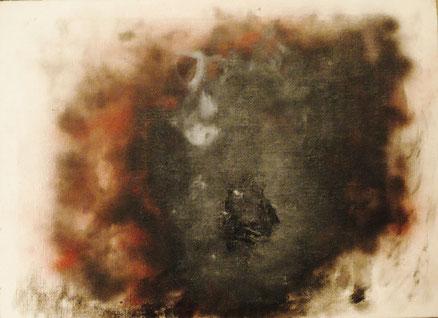 """Afrikanische Gorgone""(Kleist, PENTHESILEA), Acryl auf Leinwand, 80x90, 2017"