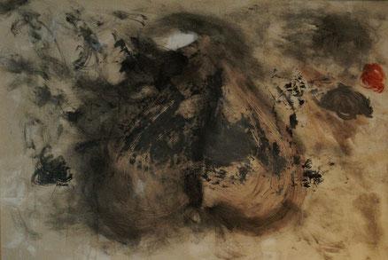 Impressionen von Afrika, Acryl auf Leinwand, 80x120, 2012