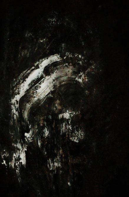 Marat, Acryl auf Hartfaser, 70x50, 2014